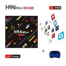 New Hot H96 MAX H2 TV Box Android 7.1 4 gb 64 gb RK3328 Quad Core 4 k VP9 HDR10 wiFi Bluetooth 4.0 Media Player PK X92 TX9 PRO