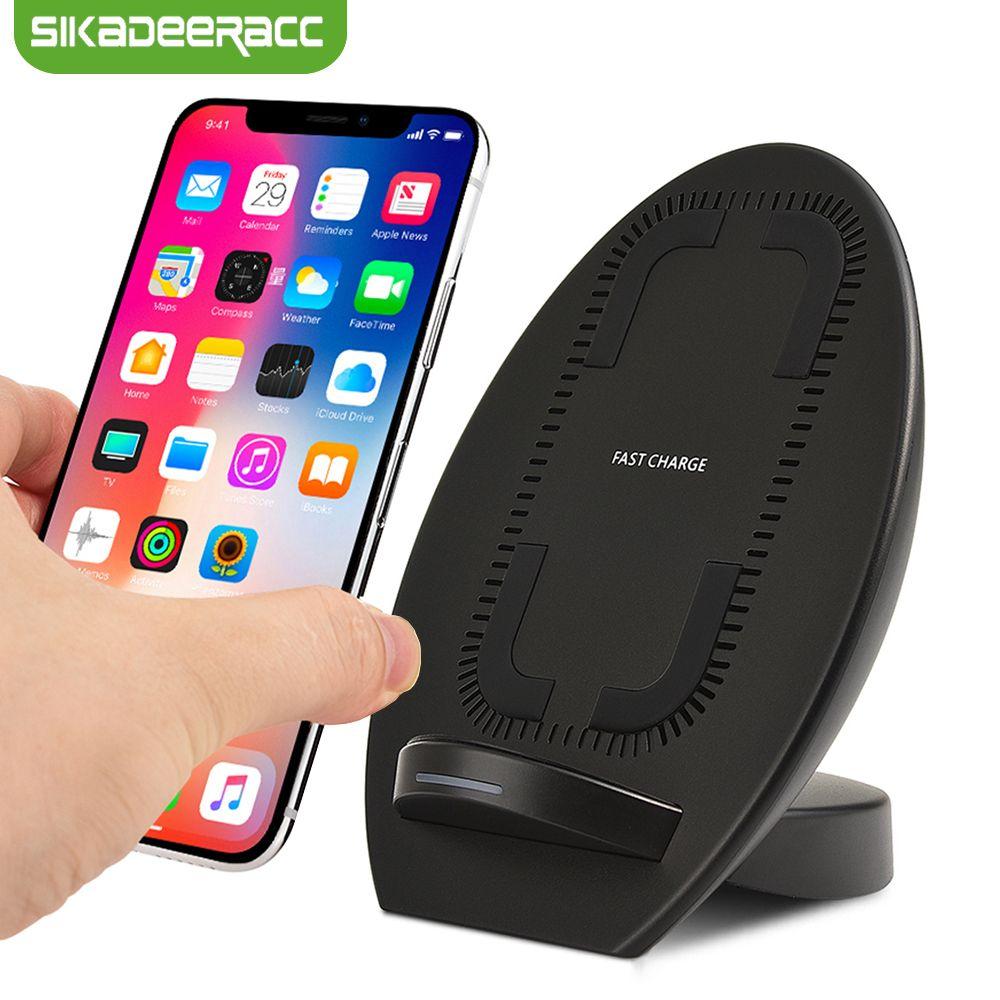 JK68 Qi Sans Fil Chargeur Station Pour iPhone X 8 Plus Samsung Note 8 S8 Plus S7 Bord Sans Fil Rapide Charging Dock Stand chargeur