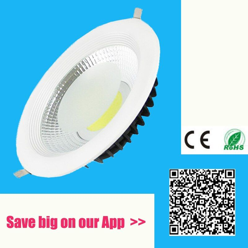 5 w 10 w 20 w 40 w 60 w LED COB downlight Dimmable Encastré LED plafonnier Spot Led lumière Lampe naturel/blanc chaud led lampe ip44