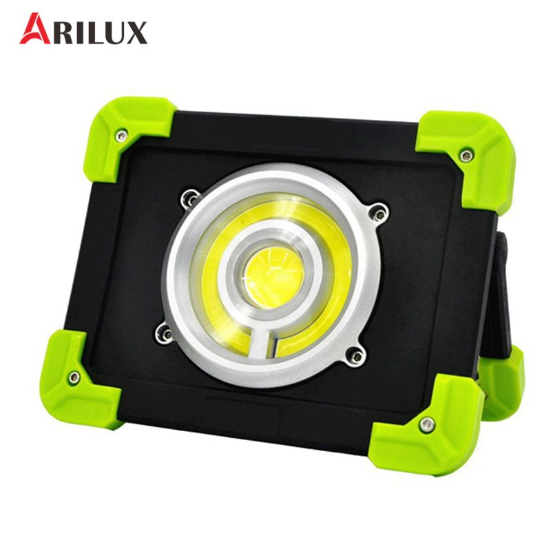 ARILUX Portable Camping Lights 20W 1500LM LED COB Work Lamp USB Rechargeable 6000Mah Waterproof IP44 Floodlight For Outdoor