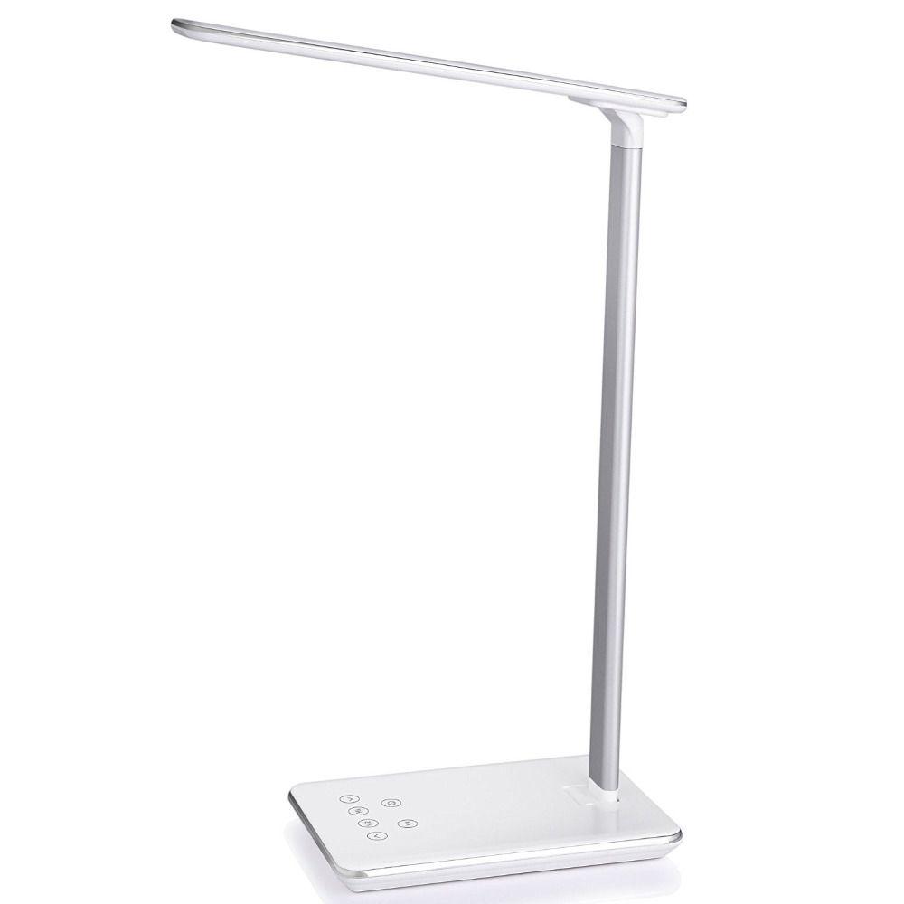 Складной Дизайн LED настольная лампа сенсорный выключатель 4 уровня Яркость приглушить свет высокочувствительный сенсорный диммер office свет