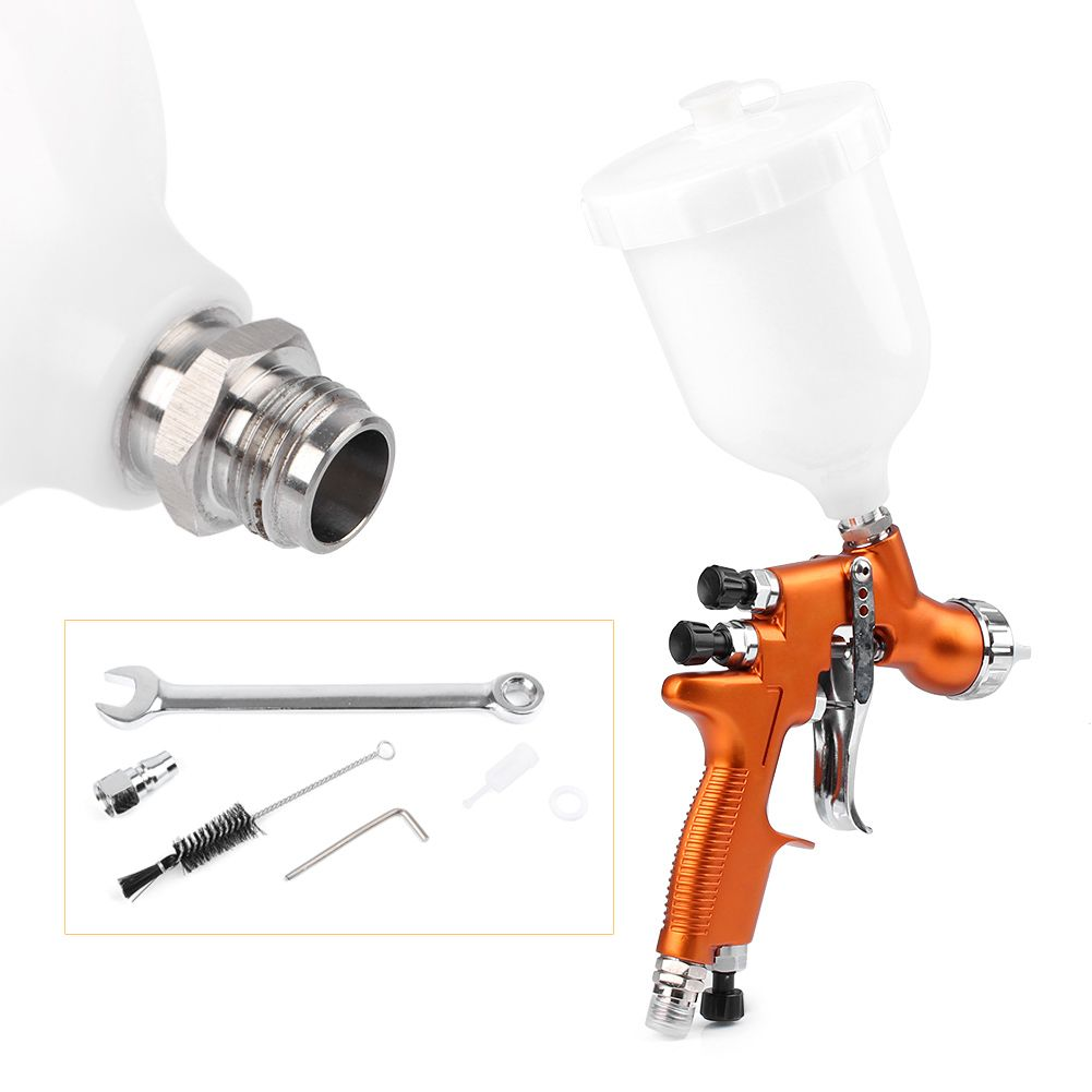 For Auto Car Body Paint 1x HD-2 HVLP Air Gravity Feed Spray Gun Kit 1.3mm Nozzle Coat Paint Repair Tool