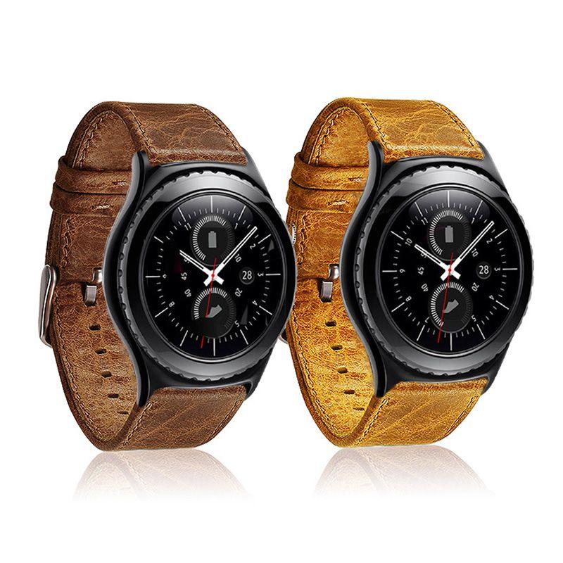 FOHUAS Crazy horse Bracelet de montre en cuir pour Samsung gear s3 poignet Bracelet de montre intelligent lien Bracelet liens Bracelet de montre pour iWatch