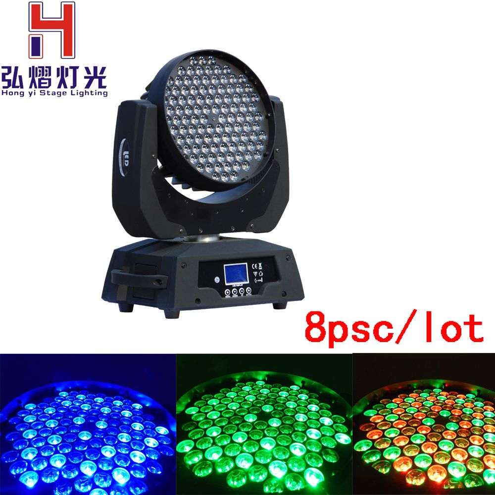 8pcs/lot Best Quality Zoom Wash 108x3W RGBW LED Moving Head for Concert