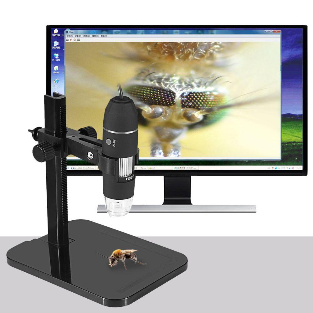 Tragbare USB Digital Mikroskop 1000X Elektronische Endoskop 8 LED 2 Millionen Pixel Practic Lupe Mikroskop Kamera Schwarz