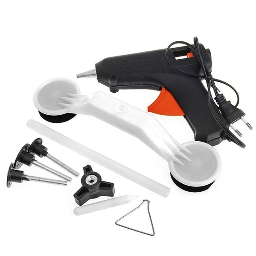 DIY Car Dent Repair Tool Removal Hand Repair Kit Set Car Door Body Auto EU Plug 40W Hot Melt Glue Gun Pulling Bridge
