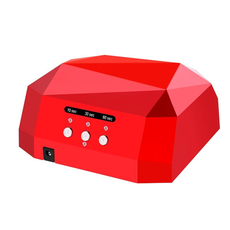 2018 New SUNUV SUN Diamond Shaped 32W UV LED Nail lamp Nail dryer for All Gels with 10s/30s/60s button Perfect Thumb Solution