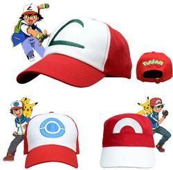 Anime Pocket Monster Cosplay Costumes Hats Pokemon Cap Ash Ketchum