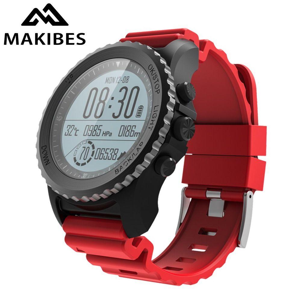 Makibes G07 GPS Sport WristWatch Bluetooth SmartWatches IP68 Waterproof Dynamic Heart Rate monitor Multi-sport Men's GPS tracker