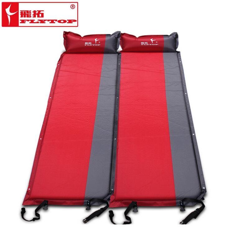 Tapis de Camping en plein Air matelas d'air automatique matelas gonflable de plage tapis de tourisme auto-gonflant matelas de couchage (170 + 25) * 65*5cm