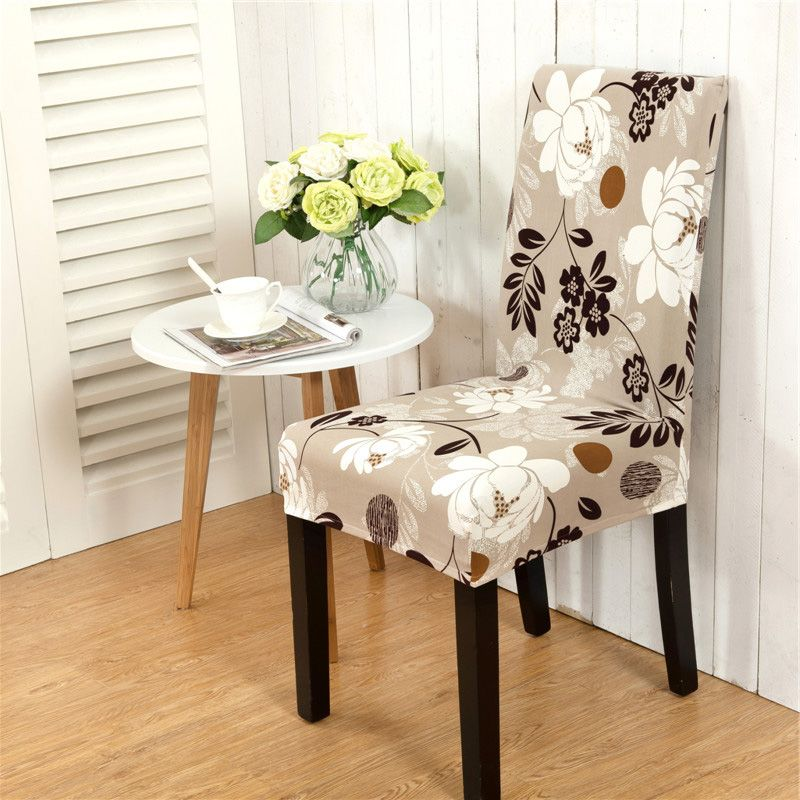 Modren Anti-dirty Floral Stretch Polyester Spandex Chair Covers for Weddings Banquet Folding Hotel Chair Covering