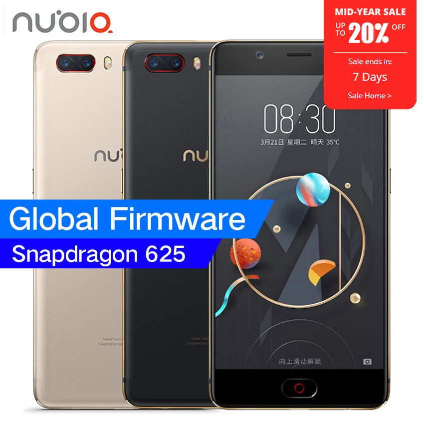 Original ZTE Nubia M2 4G LTE Snapdragon 625 Octa Core 5.5 1080P 4G RAM 64GB ROM 16.0MP Camera 3630mAh Battery Mobile Phone