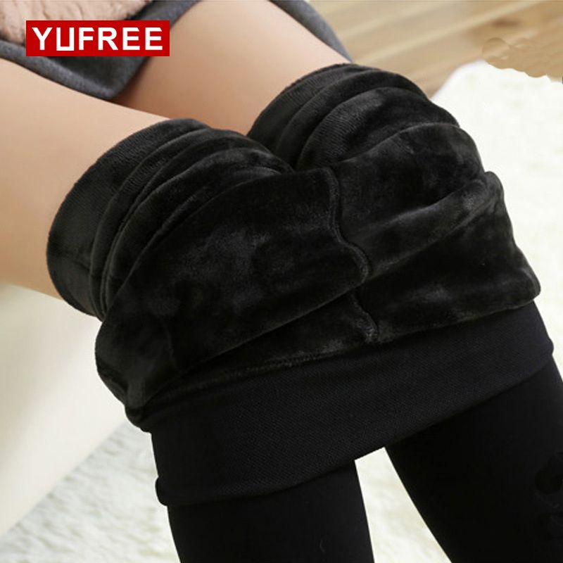 2017 Women Warm Pantyhose Solid Color Elasticity High Waist Tights Female Sexy Plus Cashmere Keep Pantyhose
