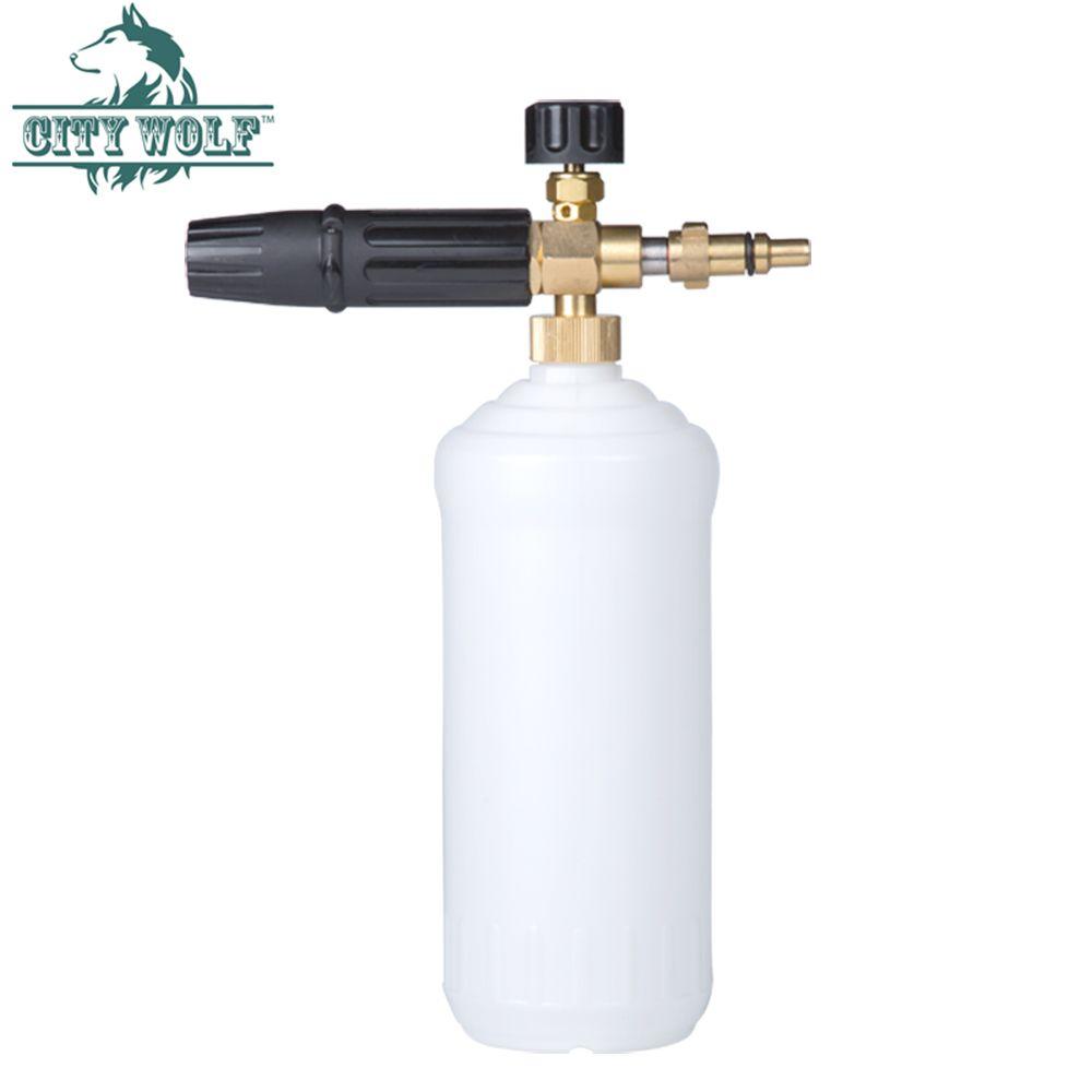 City Wolf car washer brass snow foam lance soap bottle adaptor for Nilfisk Kew Alto Huter high pressure washer