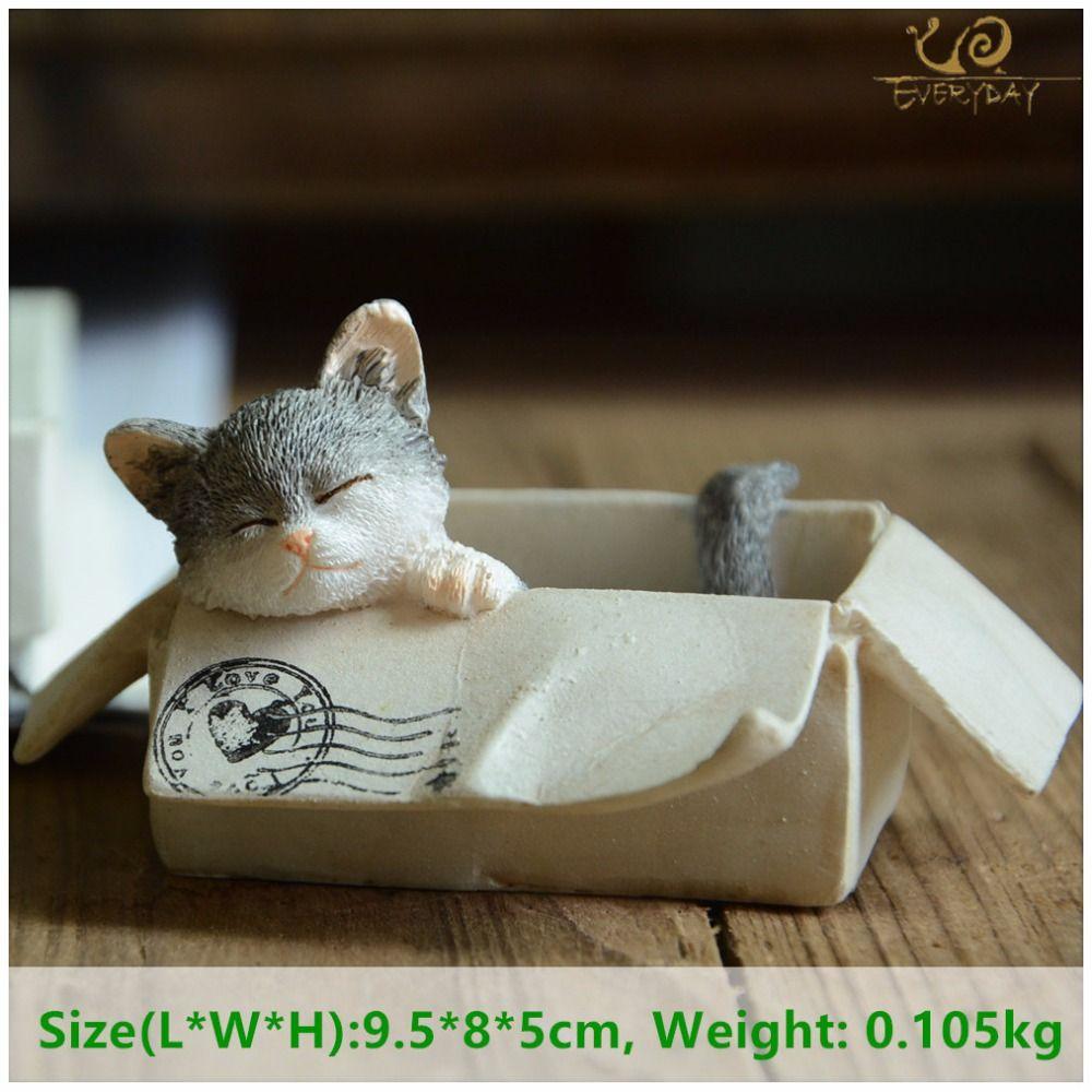 Collection de tous les jours pâques kawaii chat accessoires de décoration de la maison figurines d'animaux maneki neko sculpture miniature fée jardin