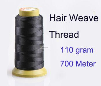 1 pc 700 metro 110 g cheveux weave fil pour aiguille de tissage brésilien trame de cheveux indiens extension couture salon styling outils