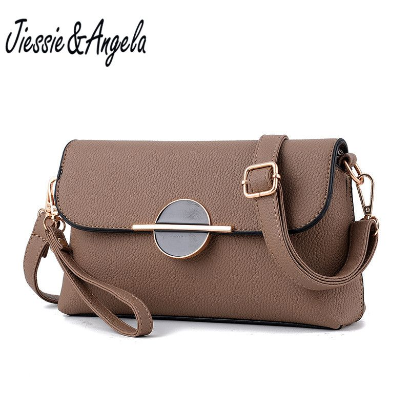 Jiessie&Angela Designer Envelope Evening Party Bag Women Leather Handbags Day Clutch Bags Messenger Shoulder Bags bolsos mujer