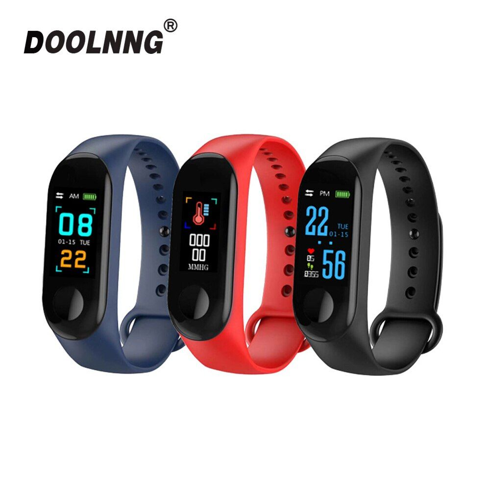 Bracelet Fitness pression artérielle extérieur écran IPS moniteur de fréquence cardiaque vie étanche intelligent M3 bracelets PK Mi bande 3