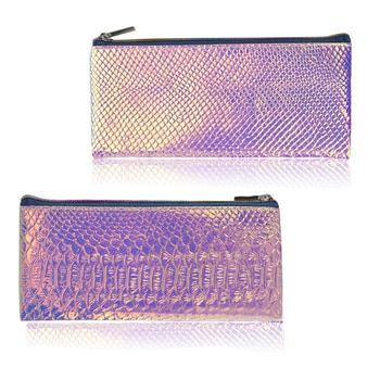 Cosmetic Bag Makeup Bag Toiletry Travel Bag Handy Holographic Bag Protable Wash Pouch Waterproof Zipper Handbag Carry Case Org