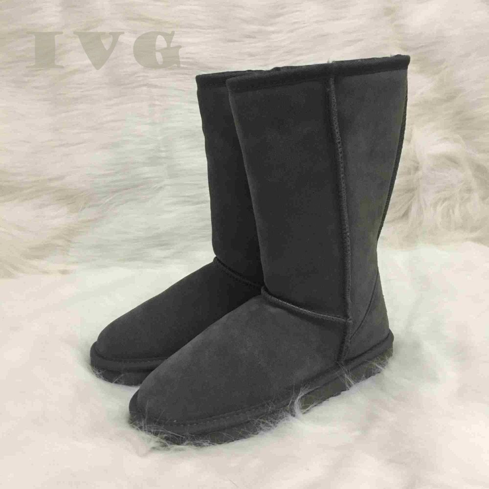 Plus Size US3-14 Australian Ugs Women Unisex Snow Boots Waterproof Winter Leather Long Boots Brand IVG With Gift,11 Colors!