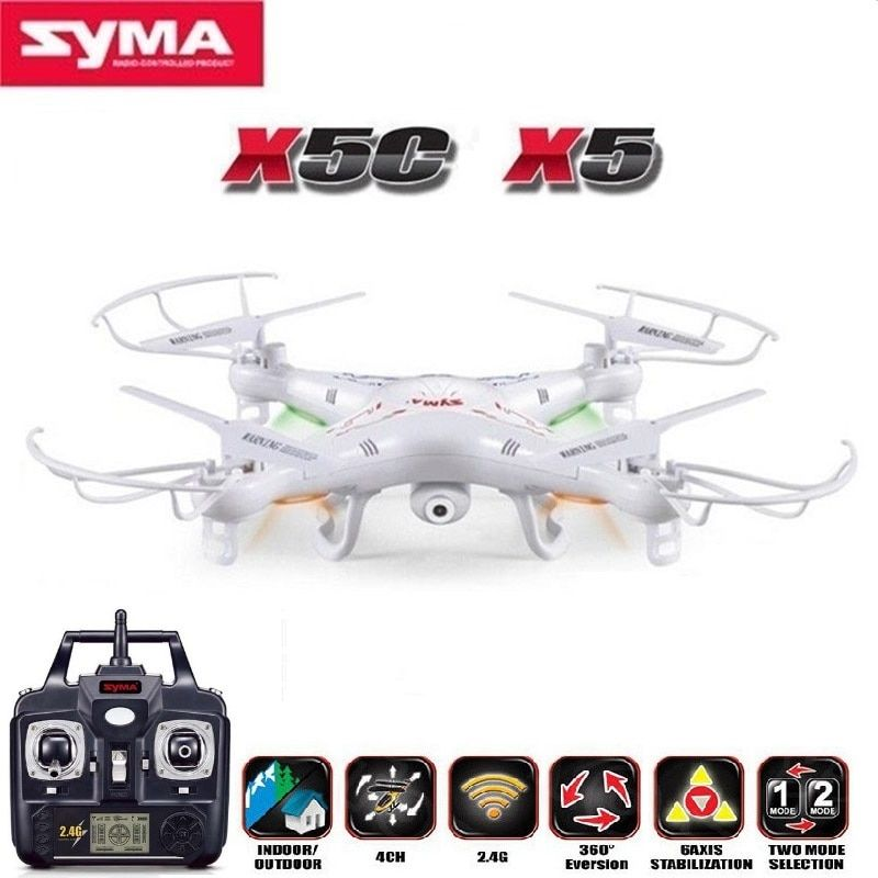 SYMA X5C (Upgrade Version) RC Drone 2.4G 4CH RC Helicopter Quadcopter With 2MP HD Camera Or Single Machine