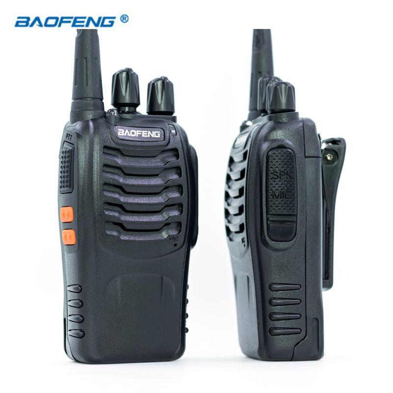2 pcs Baofeng BF-888S Talkie Walkie UHF FM 400-470 mhz CB Radios JAMBON Portable Émetteur-Récepteur Radio 16 Canal stéréo Chasse Station