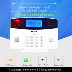 106 zone  LCD keyboard wired & wireless GSM alarm system home security set Voice Guide two way intercom free shipping