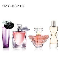 Maycrear mujeres perfume atomizador Portable del perfume botella de perfume de cristal señora flor fragancia perfume marca 1 Unidades 4 unids
