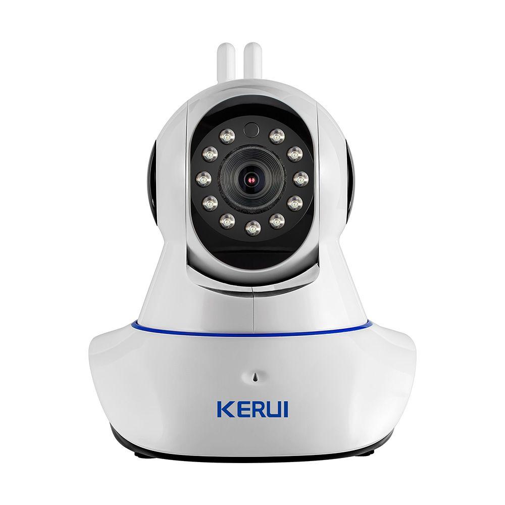 KERUI Sans Fil WiFi HD IP Caméra WiFi GSM Accueil Intruder Système D'alarme Antivol de Sécurité 720 p 3.6mm len GSM dispositif de Surveillance