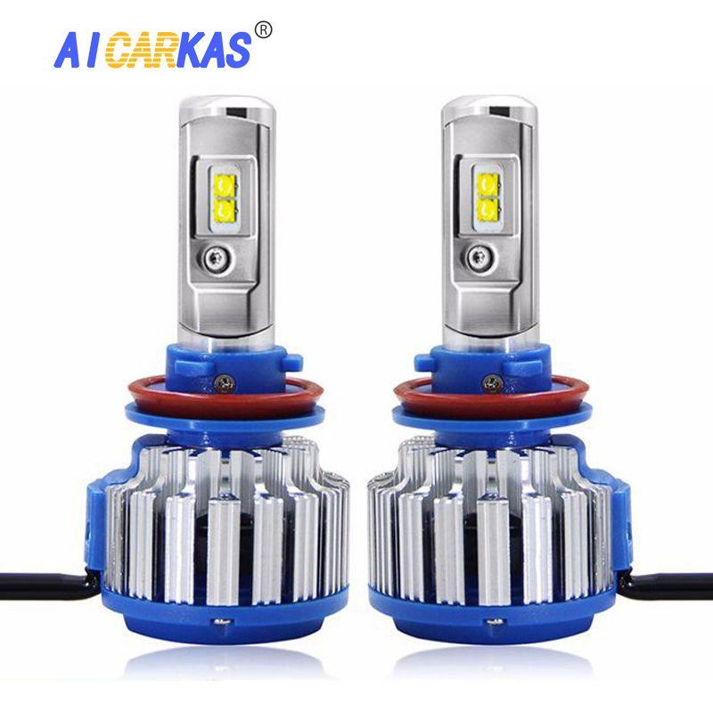 AICARKAS 2 PCS T1 Turbo LED 70W 7200LM 6000K H4 H1 H3 Car Headlight H7 H8/H11 880/881/H27 9005 HB3 9006 HB4 9007 HB5 Light Bulb