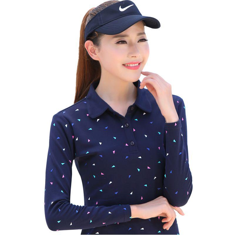 novel.mice Women Polo Shirt 2017 New Autumn Spring Woman Long sleeved Polos Female Cotton Print Casual Polo Shirts Plus Size 609