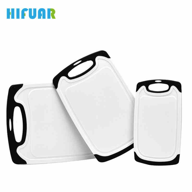 HIFUAR 3Pcs/Set Antibacterial Chopping Board PP Plastic Heat Resistant Dishwasher Safe Cutting Boards Kitchen Tools Accessories