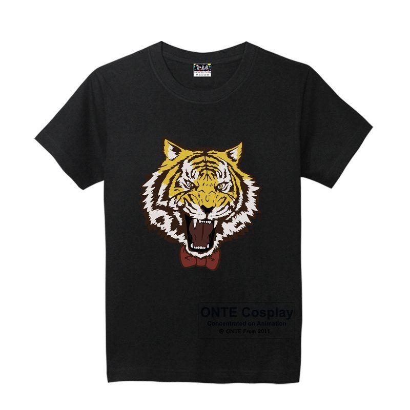 2017 New Anime Yuri!!! on Ice Cosplay T-shirts Yuri Plisetsky Tiger Print Tops Short-Sleeve Tees Cute Cool T Shirts Costumes