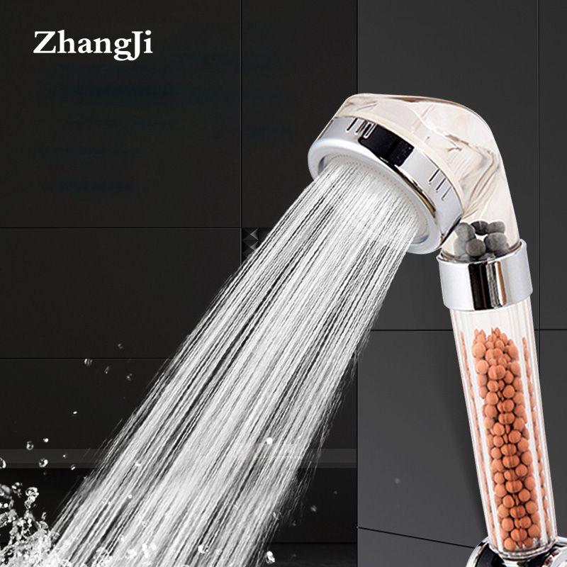 ZhangJi thérapie douche Anion SPA pommeau de douche à main économie d'eau filtre à pluie pomme de douche haute pression eau ABS salle de bain