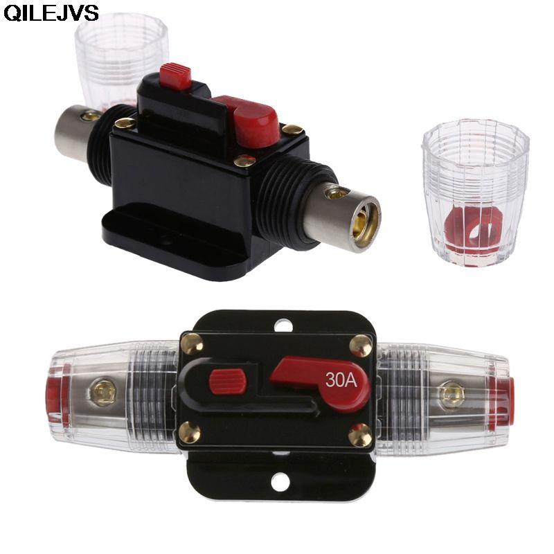 QILEJVS Car Modified Switch Audio 20A/30A/40A/50A/60A/80A/100A/125A/150A Circuit Breaker Manual Reset Switch Fuse Holder