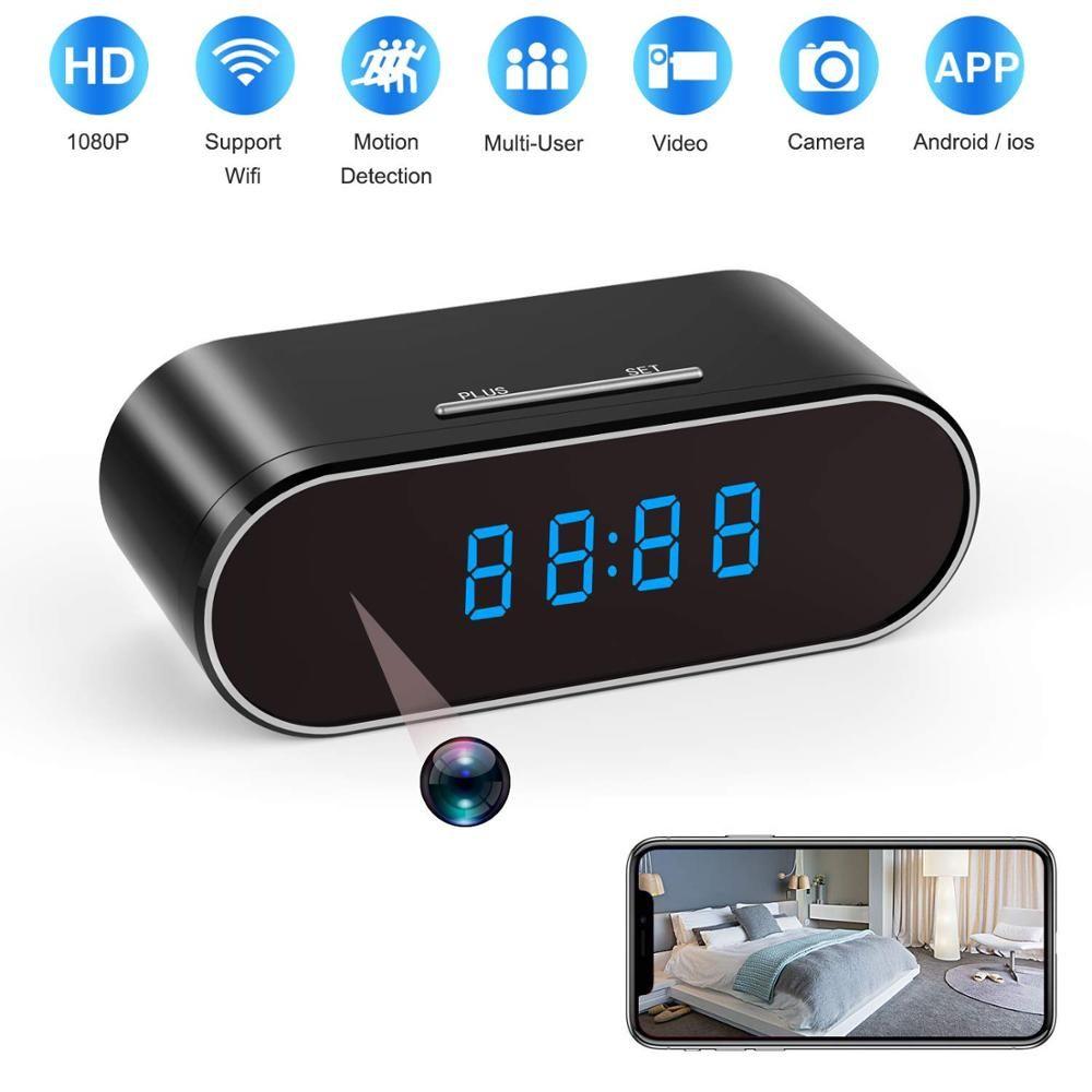 H.264 WiFi Tisch Uhr Mini Kamera 1080 P HD IP P2P DVR Camcorder Alarm Set Nachtsicht Motion Sensor Fernbedienung monitor Micro Cam