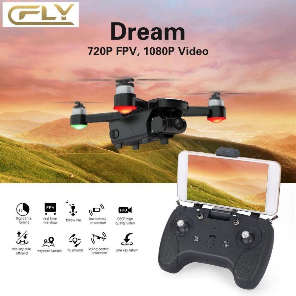 C-FLY CFLY Traum GPS RC DRONE Bürstenlosen Motor 5g WIFI FPV 800 mt 1080 p HD Kamera Folgen mich modus Kreis Fliegen Optischen Fluss