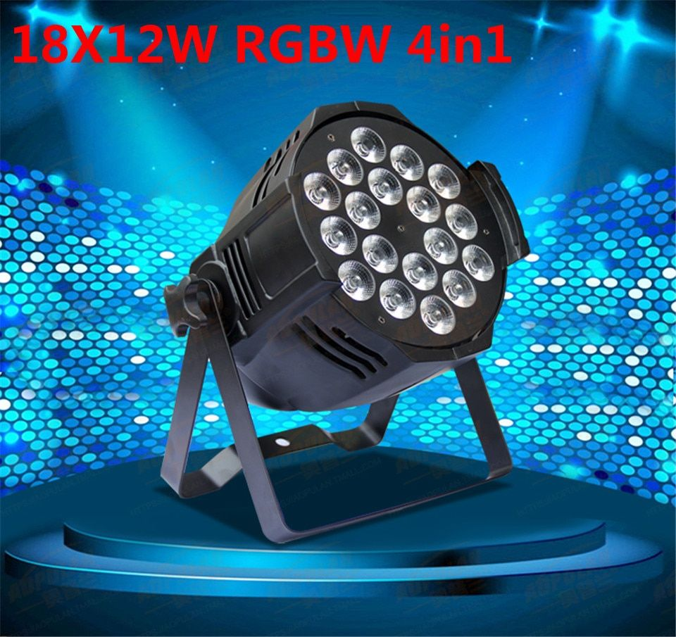 Aluminum alloy LED par 18x12W RGBW 4in1 LED Par Can Par64 led spotlight dj projector wash lighting stage light light