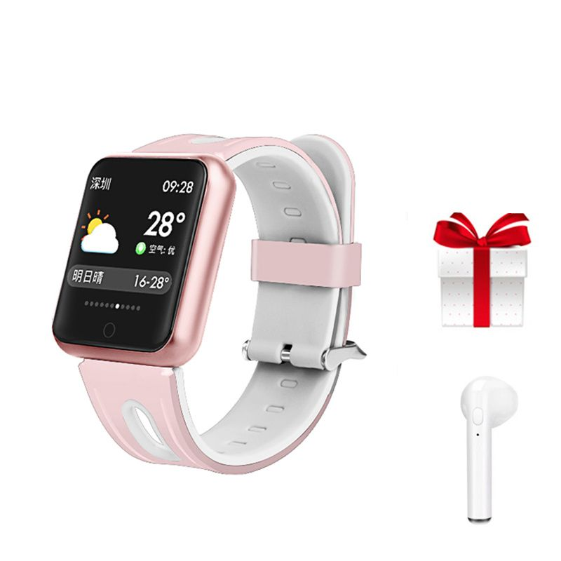 P68 Smartwatch for android ios montre connect smart watch waterproof ip68 muliti-sport wristband rose gold fitness bracelet gift
