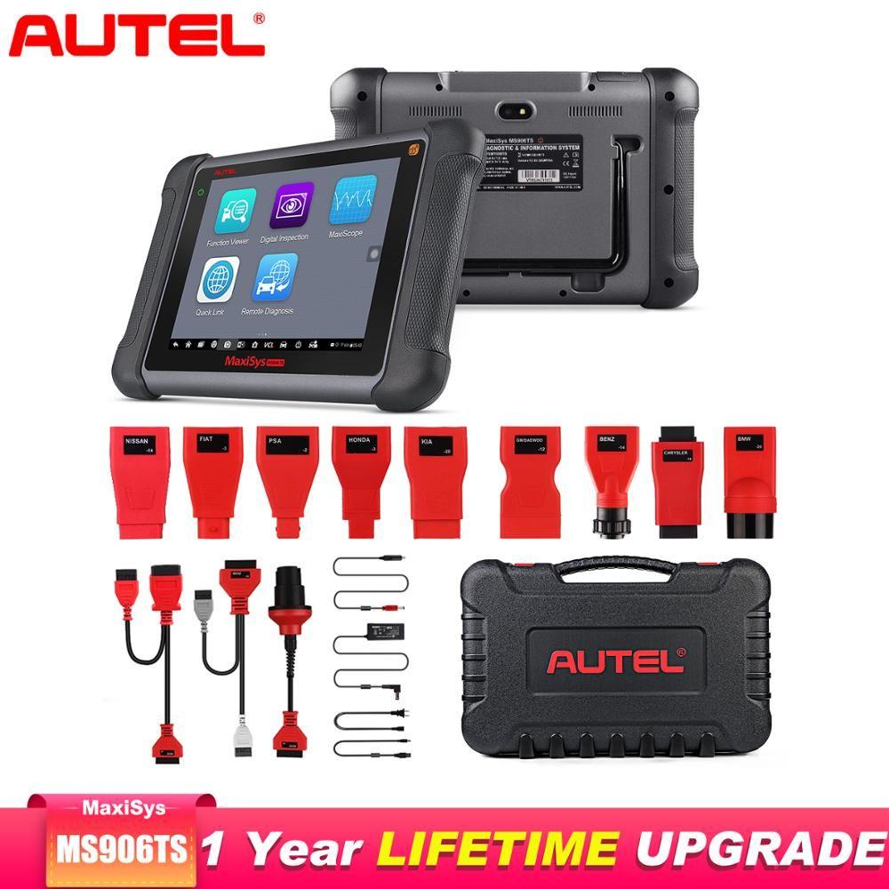 Autel MaxiSys MS906TS Diagnose Auto Werkzeug Alle Systeme TPMS programmierung werkzeug OBD2 Scanner ECU Codierung OE-level Auto Scanner