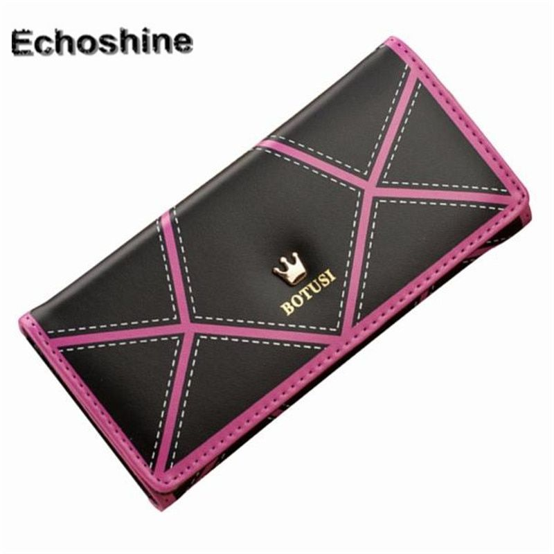 Women OL style Long Crown Leather Clutch Purse Handbag Wallet long leather ladies wallet female handbag purse A1000