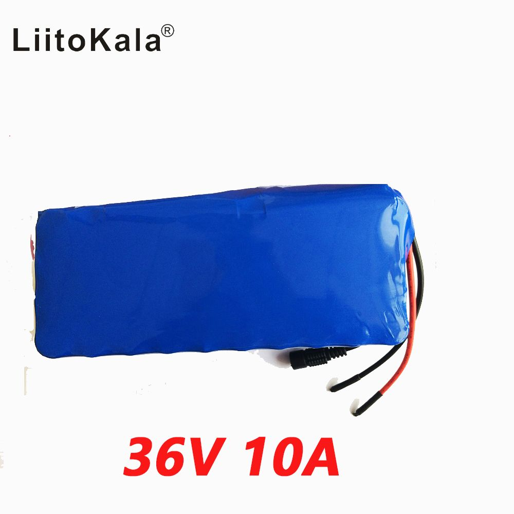 LiitoKala 36V 10ah 500W 18650 lithium battery 36V 8AH Electric bike battery with PVC case for electric bicycle