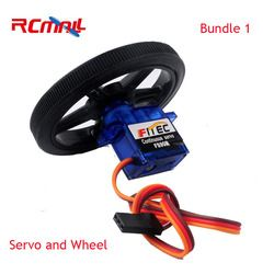 RCmall Feetech FS90R Servo and Wheel 360 Degree Continuous Rotation Micro RC Servo For RC Car Boat Robot Drones FZ0101-01 FZ2913