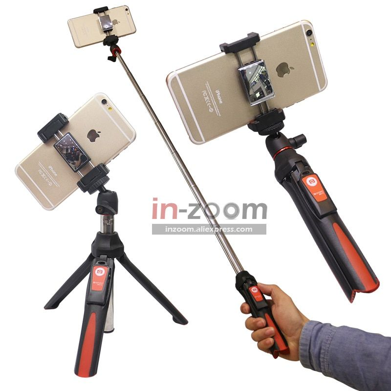BENRO MK10 Handheld&mini Tripod 3in1 Self-portrait Monopod Phone Selfie Stick Bluetooth Remote Shutter for iPhone Sumsang Gopro