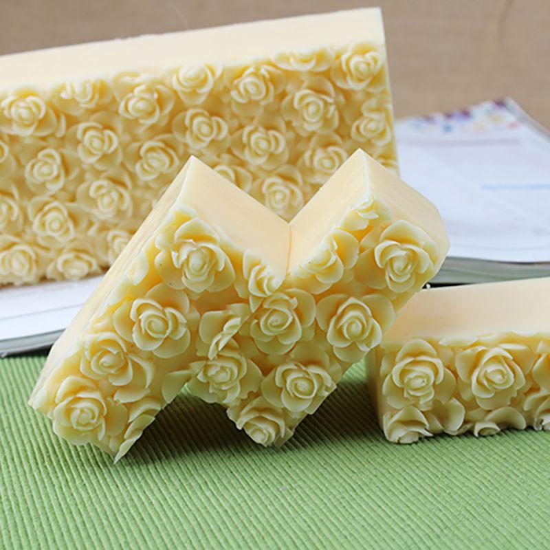 Nicole Silicone savon moule en relief Rose fleur décoration à la main pain savon faisant moule