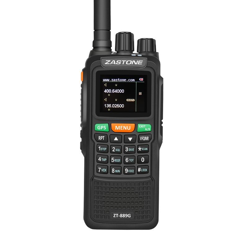 Zastone 889G GPS 10W Walkie Talkie 999CH VHF/UHF 3KM-10KM Powerful Two Way Radio Portable Dual Band Radio Transceiver CB Radio