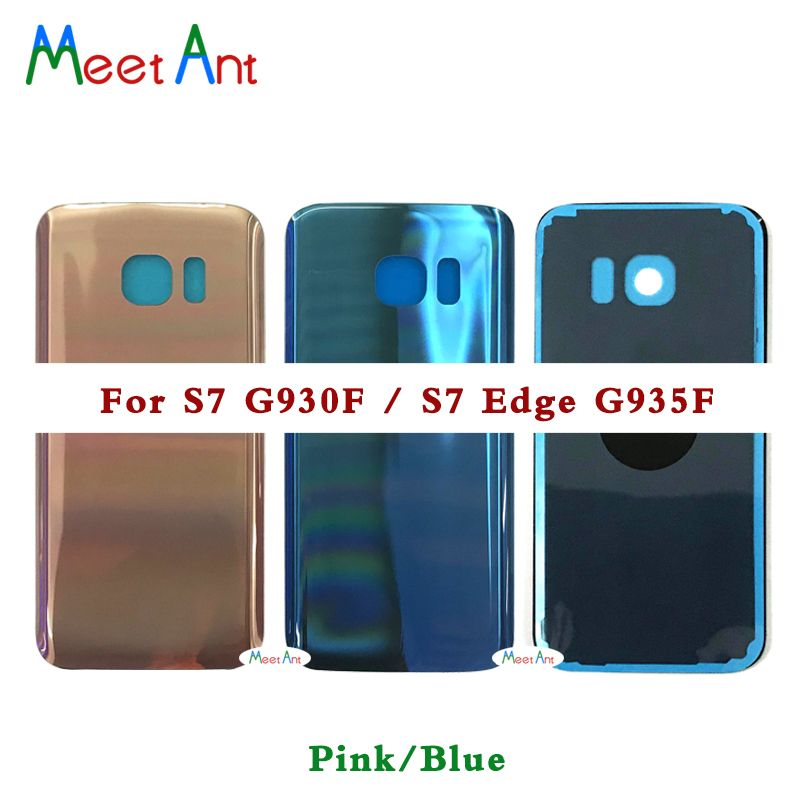 10pcs High quality For Samsung Galaxy S7 G930 G930F or S7 edge G935 G935F Back Housing cover Battery Cover Rear Door Chassis