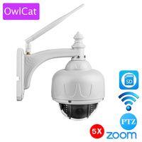 OwlCat P HD 1080 P PTZ Беспроводная ip-купольная камера Wifi наружная безопасность CCTV 13,5-2,7 мм Автофокус 5X зум SD карта ONVIF аудио