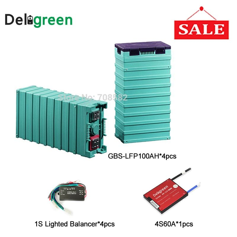 Promotional 4S 60A battery bms for 4pcs GBS Lifepo4 100AH battery pack with Battery voltage equalizer In Battery Accessories