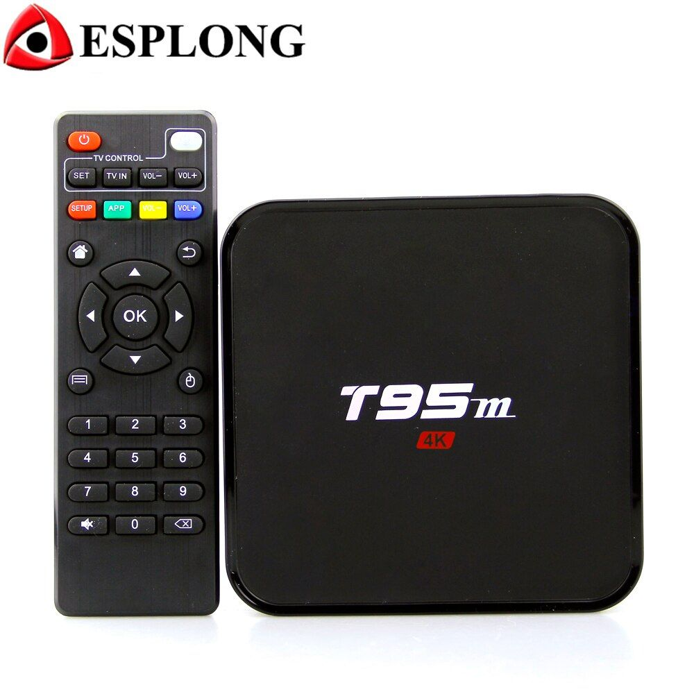 Smart T95M Android TV Box 4k Amlogic S905X 2GB 8GB Quad Core 2.4G HD Media Player Pre-installed WiFi Android 7.1 TV Set Top Box